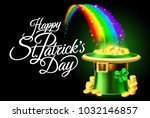 a happy st patricks day sign...   Shutterstock .eps vector #1032146857