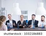 members of the hr department...   Shutterstock . vector #1032186883