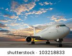 commercial airplane with nice... | Shutterstock . vector #103218833
