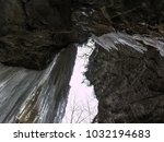 breitachklamm in winter icicles ... | Shutterstock . vector #1032194683