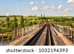 Railway Bridge With Metal...