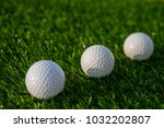 golf ball on grass | Shutterstock . vector #1032202807