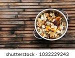 mushrooms  bay bolete ...   Shutterstock . vector #1032229243