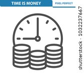 time is money icon.... | Shutterstock .eps vector #1032237667