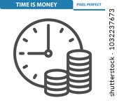 time is money icon.... | Shutterstock .eps vector #1032237673