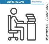 working man icon. professional  ... | Shutterstock .eps vector #1032243223