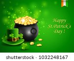 st.patricks day  treasure of... | Shutterstock . vector #1032248167