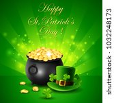 st.patricks day  treasure of... | Shutterstock . vector #1032248173
