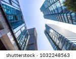 up view of modern office... | Shutterstock . vector #1032248563