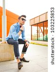 attractive young male model... | Shutterstock . vector #103225853
