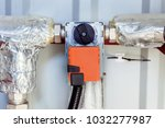 Small photo of Damper actuator installed on the industrial ventilation unit body