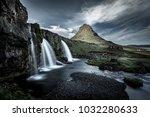 kirkjufell mount and waterfall  ...   Shutterstock . vector #1032280633