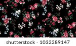 seamless floral pattern in... | Shutterstock .eps vector #1032289147