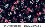 seamless floral pattern in... | Shutterstock .eps vector #1032289153