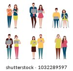vector set in a flat style of... | Shutterstock .eps vector #1032289597