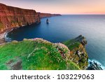 cliffs of moher at sunset in co....   Shutterstock . vector #103229063
