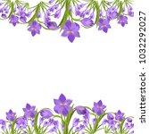 crocus flowers spring floral...   Shutterstock .eps vector #1032292027
