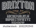 vintage font typeface... | Shutterstock .eps vector #1032292543