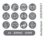 12 zodiac sign | Shutterstock .eps vector #1032293317