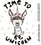 cute fluffy unicorn llama ...   Shutterstock .eps vector #1032301693