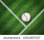 3d render of baseball on the... | Shutterstock . vector #1032307237