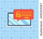 password security vector icon.... | Shutterstock .eps vector #1032325567