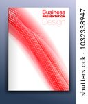 brochure red cover template... | Shutterstock .eps vector #1032338947