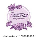 vector hand drawn romantic...   Shutterstock .eps vector #1032343123