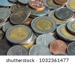 baht coins is thai currency | Shutterstock . vector #1032361477