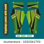 leggings pants fashion... | Shutterstock .eps vector #1032361753