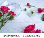 cream cosmetic natural pink... | Shutterstock . vector #1032363757