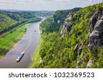 saxony  germany. elba river ... | Shutterstock . vector #1032369523