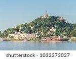 sagaing hill from ferry ... | Shutterstock . vector #1032373027