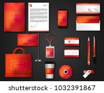 vector brochure  flyer  ... | Shutterstock .eps vector #1032391867