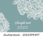 template frame  design for card. | Shutterstock .eps vector #1032399397