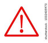 danger vector icon  | Shutterstock .eps vector #1032405973