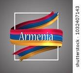 armenia flag. official national ... | Shutterstock .eps vector #1032407143
