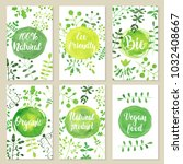 set of eco friendly labels... | Shutterstock .eps vector #1032408667