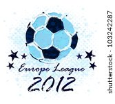 vector grunge soccer ball  ... | Shutterstock .eps vector #103242287