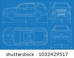 off road car schematic or suv... | Shutterstock .eps vector #1032429517