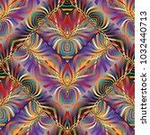 colorful kaleidoscope vector... | Shutterstock .eps vector #1032440713
