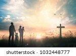 family worship concept ...   Shutterstock . vector #1032448777