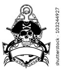 the vector image of piracy...   Shutterstock .eps vector #103244927