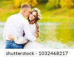 beautiful girl with long hair... | Shutterstock . vector #1032468217