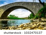 View On Old Stone Bridge In Th...