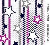 stars pattern on polka dot... | Shutterstock .eps vector #1032475813