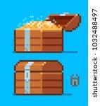 pirate treasure chest icon.... | Shutterstock .eps vector #1032488497