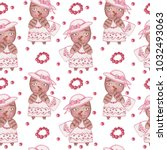 seamless pattern with cute...   Shutterstock . vector #1032493063