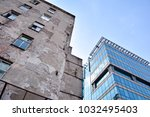 old and new architecture in one ... | Shutterstock . vector #1032495403