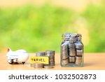 saving planning for travel... | Shutterstock . vector #1032502873